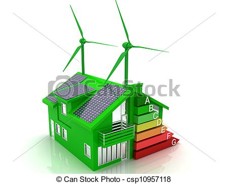 Clipart of house energy saving concept.