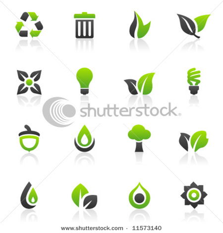 of 16 Environmental, Recycling, Energy Efficiency and Green Icons.