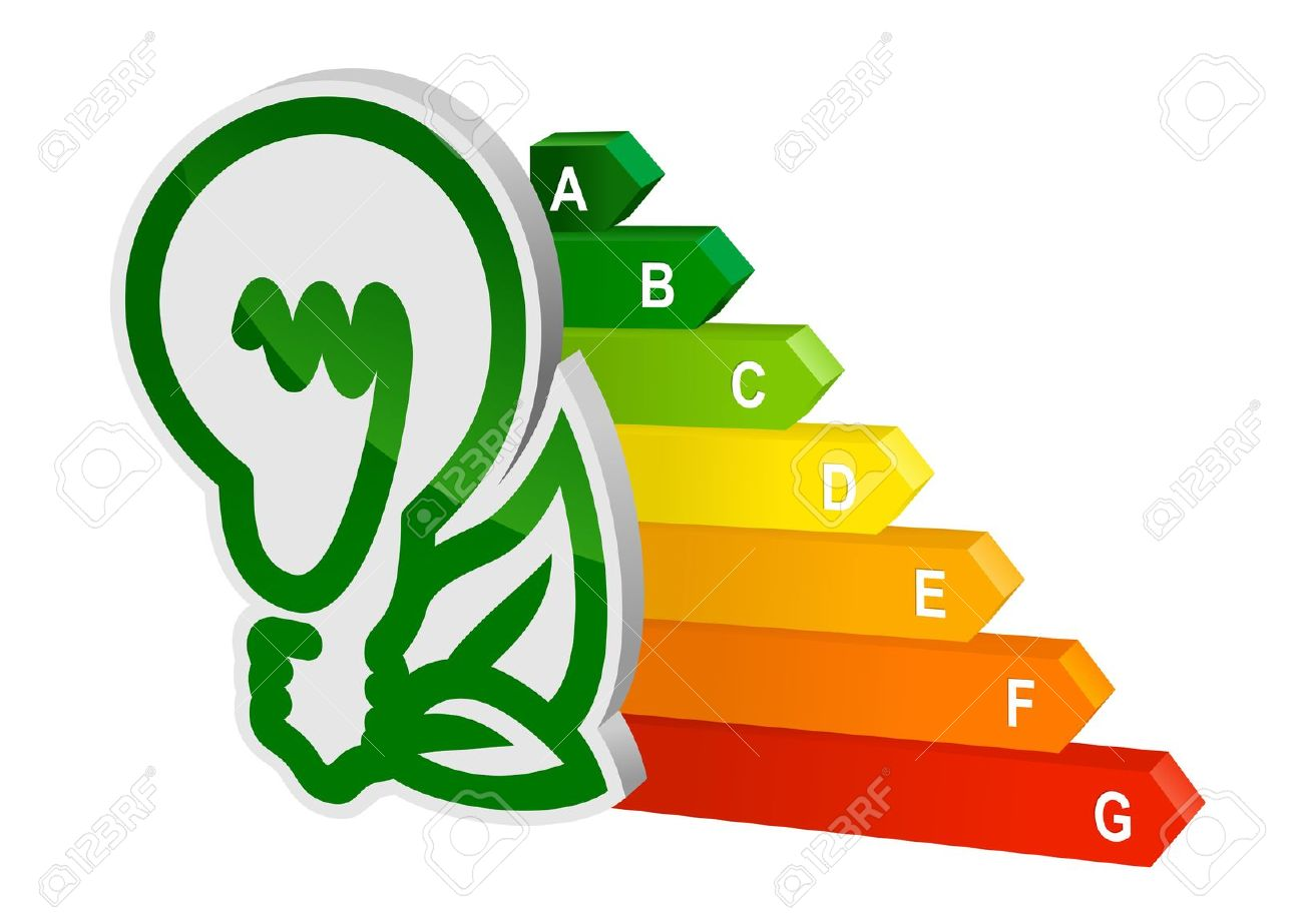 Energy Efficiency Graph For Ecology And Environment Design Royalty.