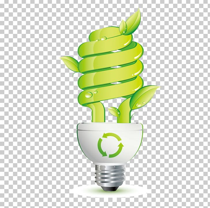 Incandescent Light Bulb Efficient Energy Use Energy Saving Lamp.