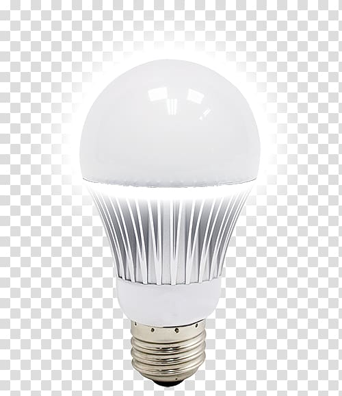 Lighting, energy saving light bulbs transparent background.