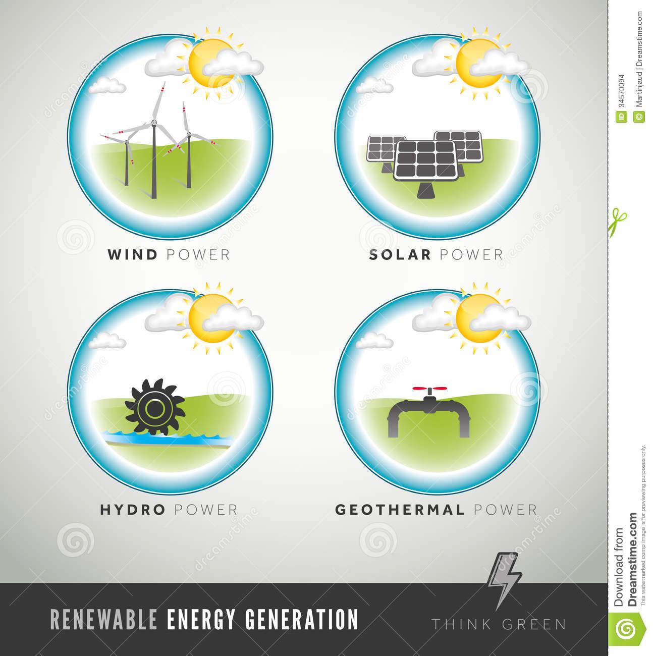No energy generation clipart.