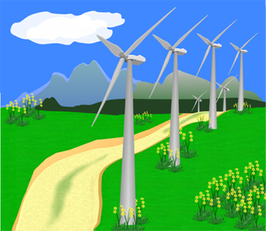 Wind energy green clipart.