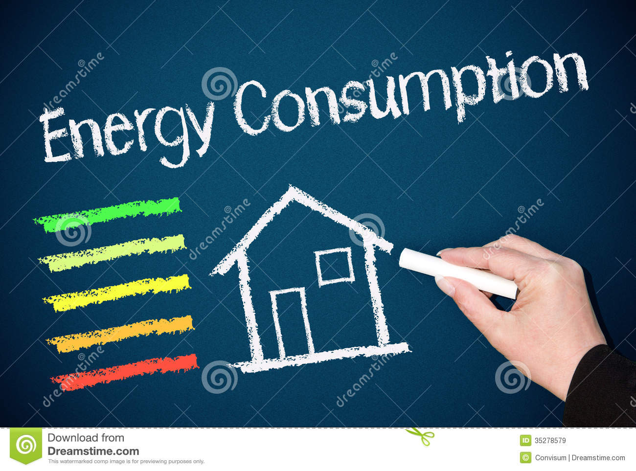 Energy Efficiency Concept Royalty Free Stock Images.