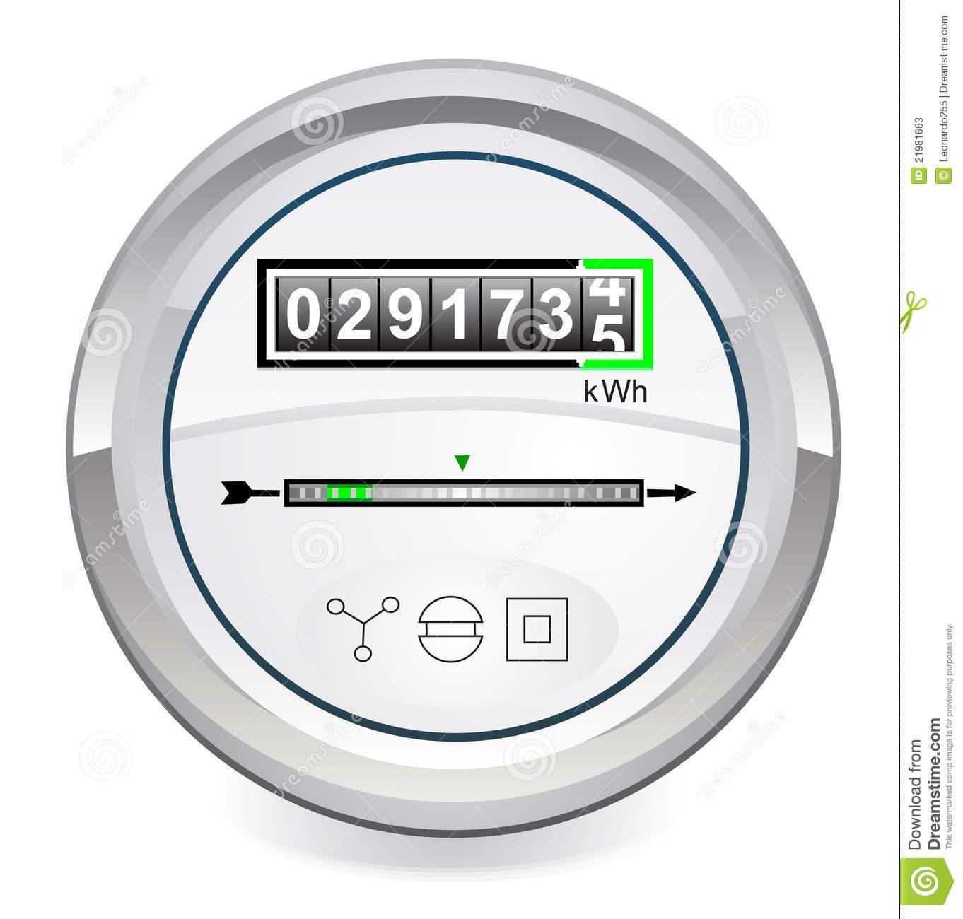 Energy Meter Stock Photos.