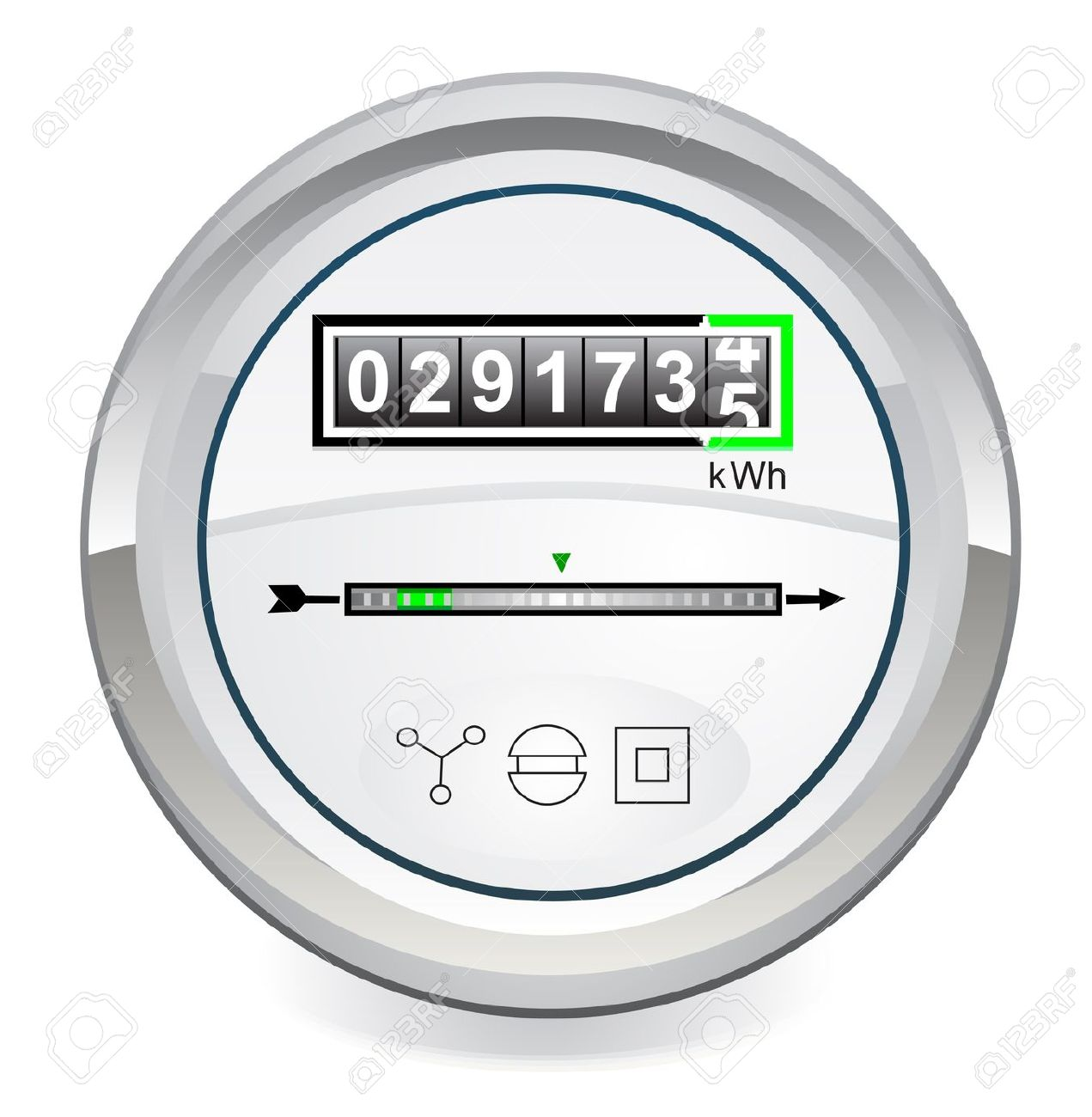 Energy Meter Royalty Free Cliparts, Vectors, And Stock.