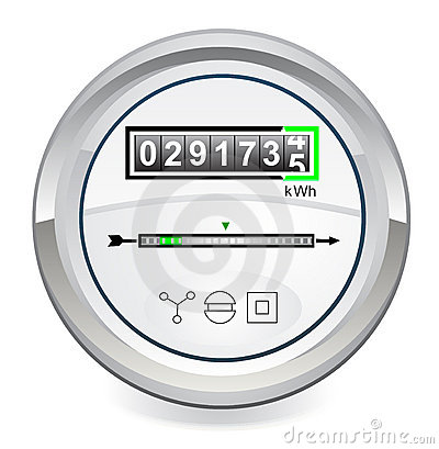 Energy Meter Royalty Free Stock Image.