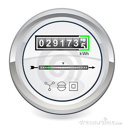 Energy Meter Royalty Free Stock Image.