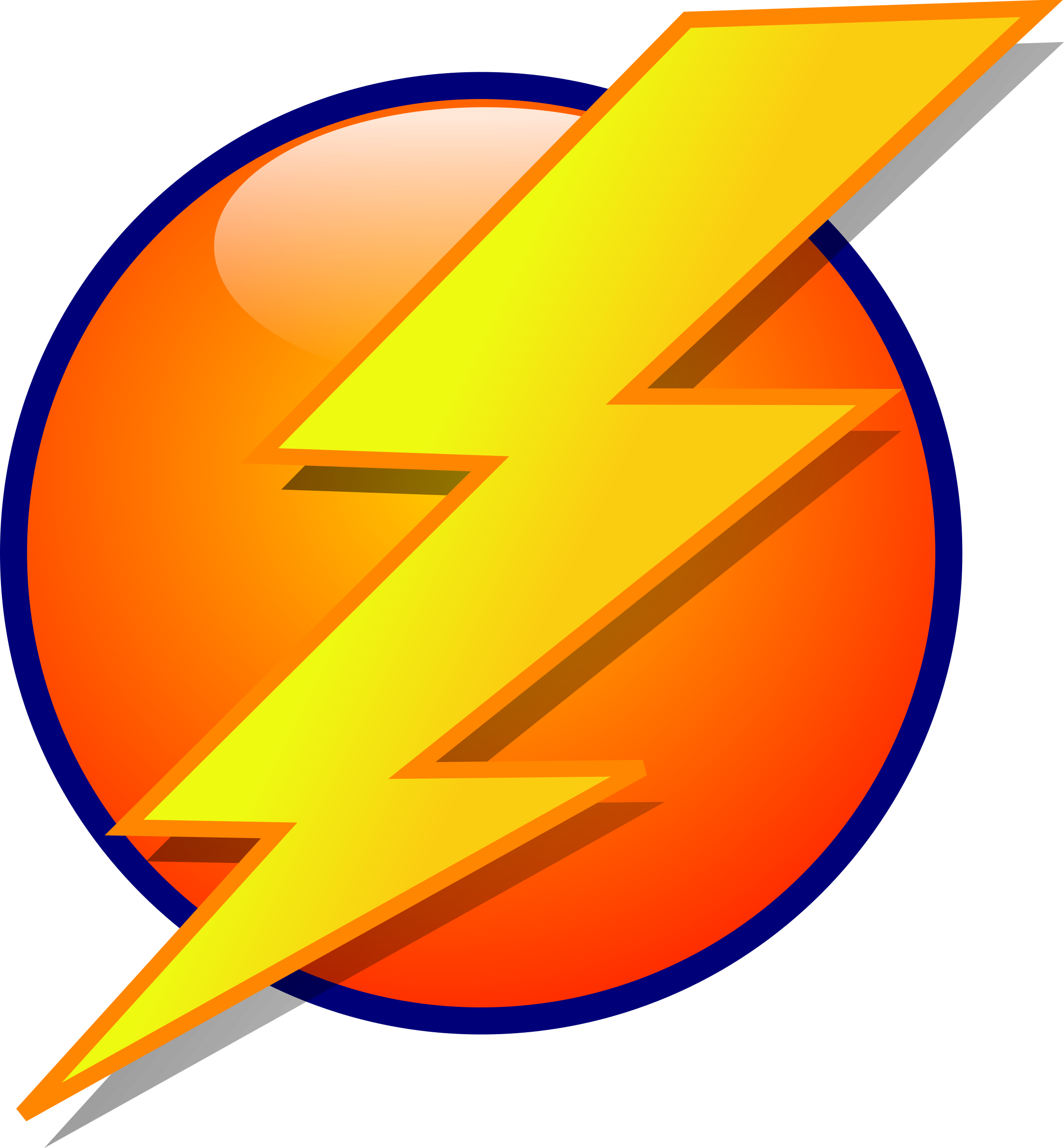Lightning Orb Energy Icon vector clipart image.