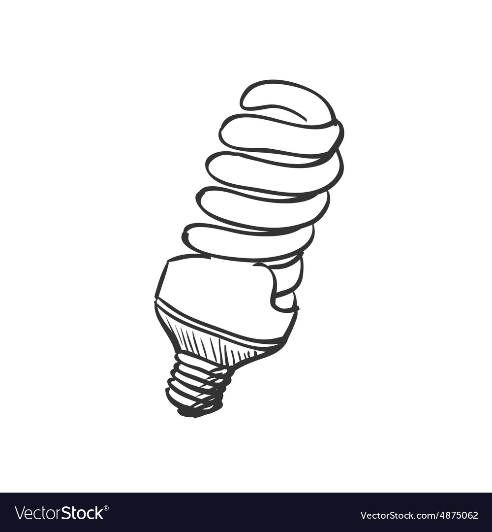 Doodle Energy saving light bulb.
