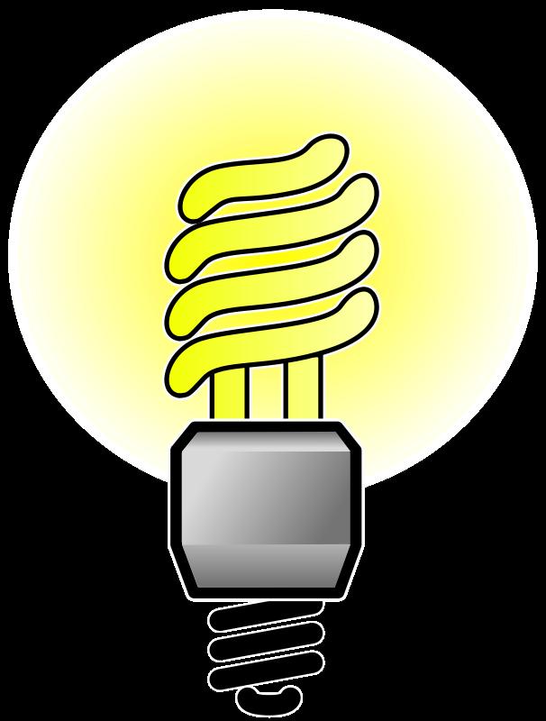 Free Clipart: Energy Saver Lightbulb.
