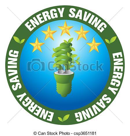 Vector Clip Art of Energy saving.