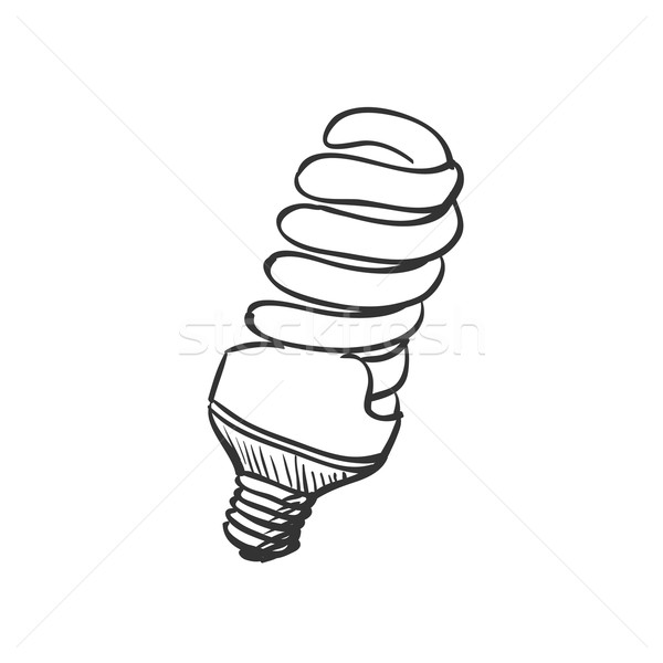 Energy Saving Light Bulbs Clip Art.
