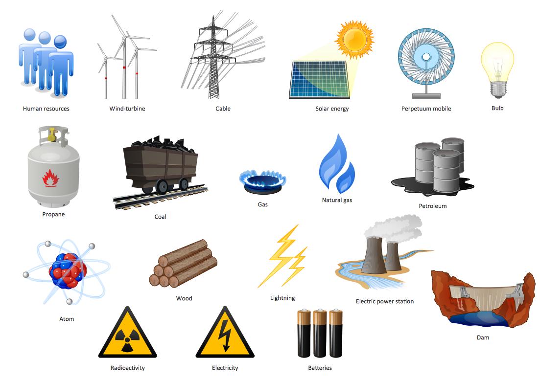 Non renewable energy clipart.