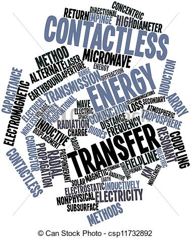 Stock Illustration of Contactless energy transfer.