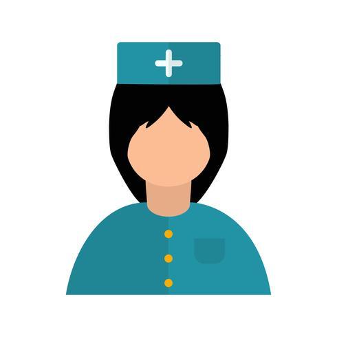 Vector enfermeira ícone.