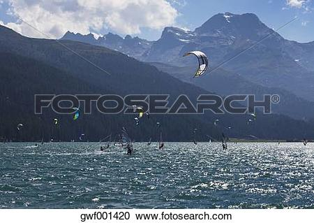 Stock Photography of Europe, Switzerland, Grisons, Alps, Upper.