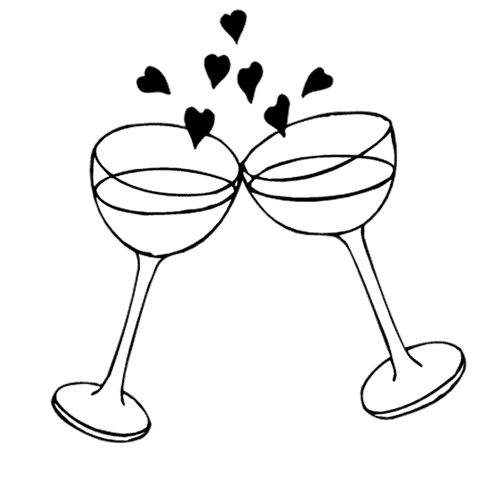 Clip Art Black And White Engagement Clipart.