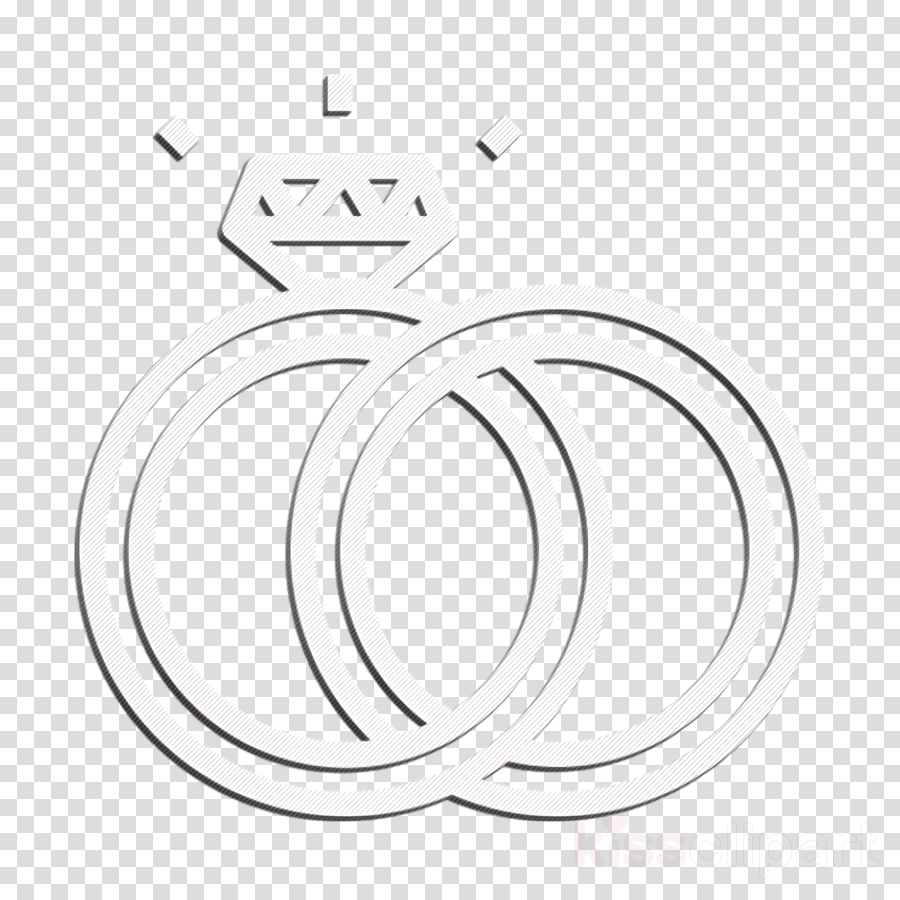 Engagement icon Ring icon Valentine\'s day icon clipart.