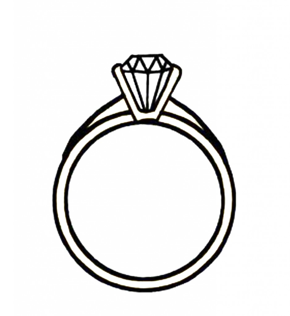 Tiffany engagement ring clipart.