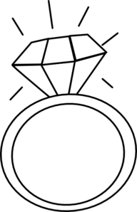 Engagement Ring Clipart Black And White.