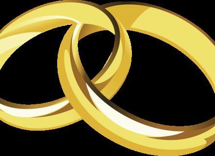 Engagement Ring Transparent PNG Clip Art Image, Wedding Rings.