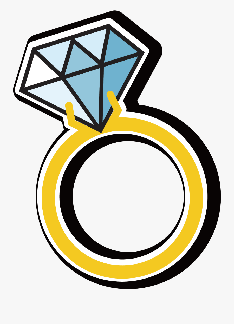 Blue Ring Diamond Gemstone Vector Hd Image Free Png.