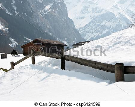 Stock Photographs of Rural house in Engelberg, famous Swiss skiing.