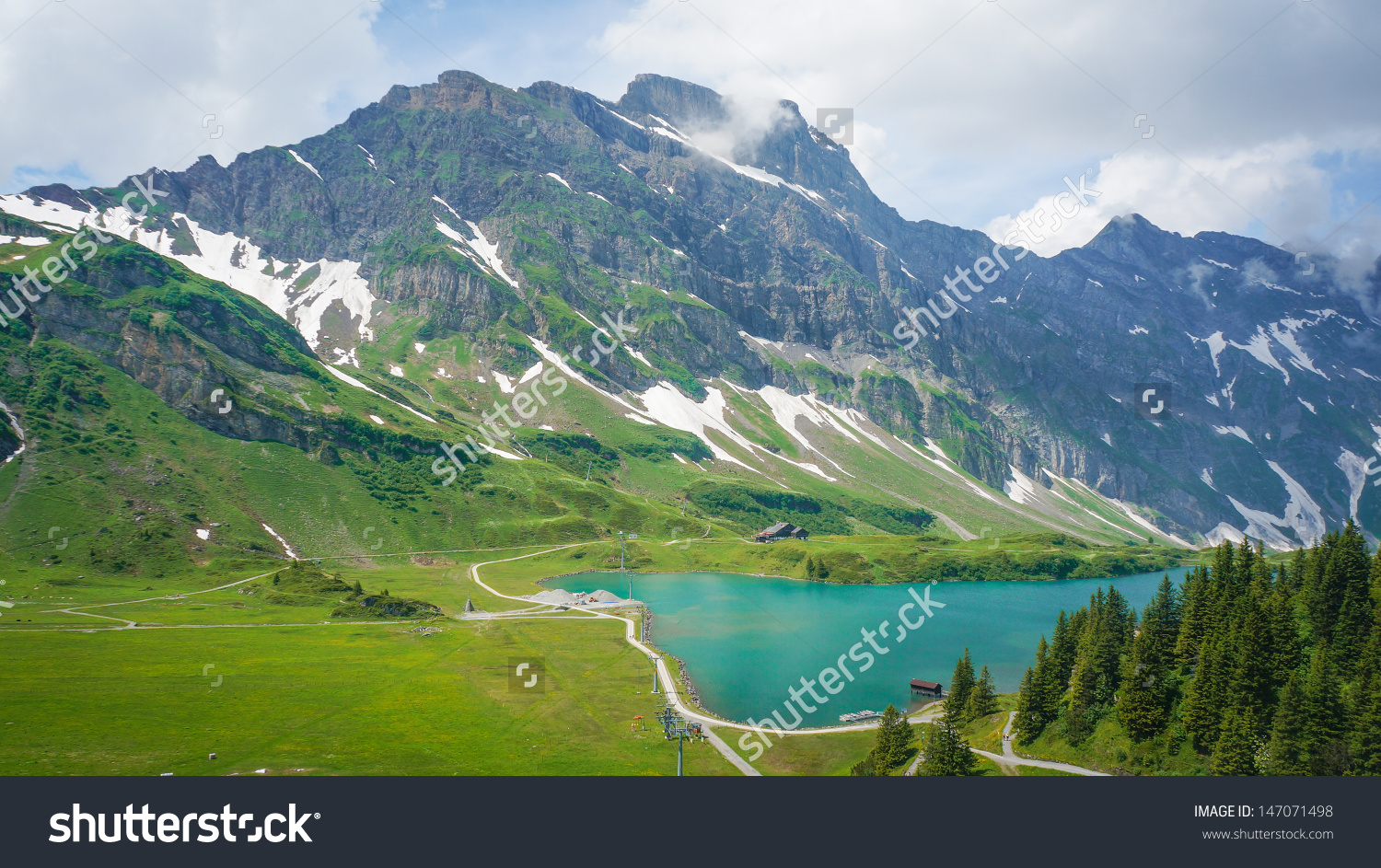 View Engelberg Valley Lake Trubsee Mount Stock Photo 147071498.