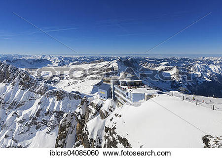 Stock Photography of Mount Titlis upper terminus, Engelberg.