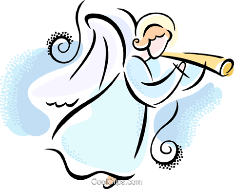 Angel Royalty Free Vector Clip Art illustration.