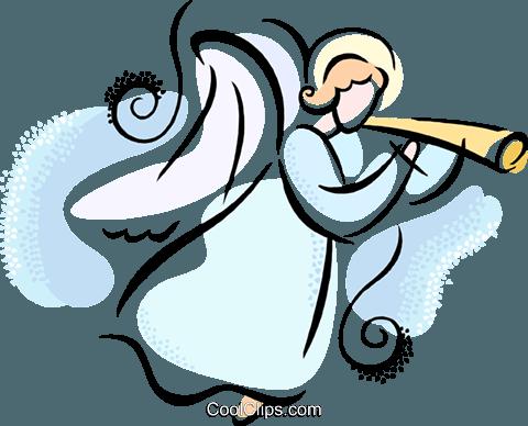 Angel Royalty Free Vector Clip Art illustration.