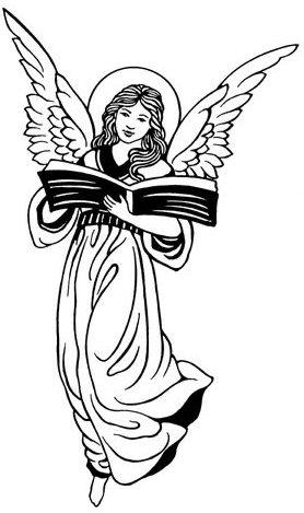 Black Angels Clipart.