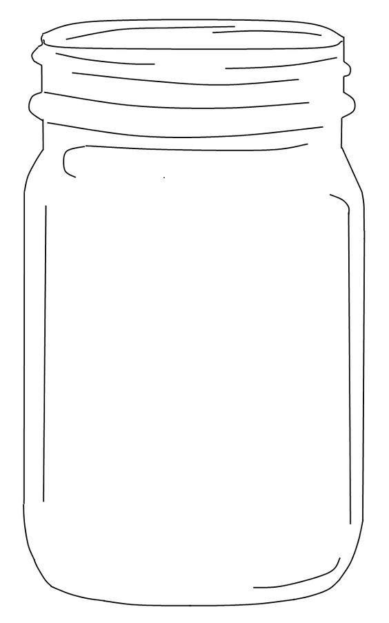 Free Mason Jar Clip art (an element for use in the invitations.