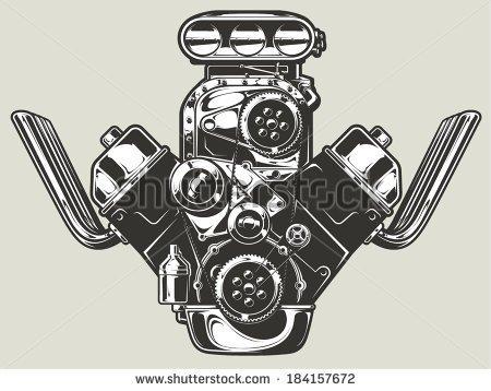 Engine Block Clipart.
