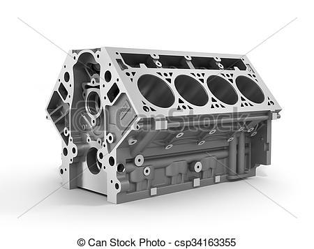 V8 Engine Clipart Engine block clipart -...