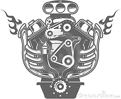 Engine Block Clipart.