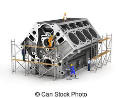 Engine block Clipart and Stock Illustrations. 573 Engine block.
