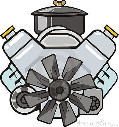 big block engine clip art