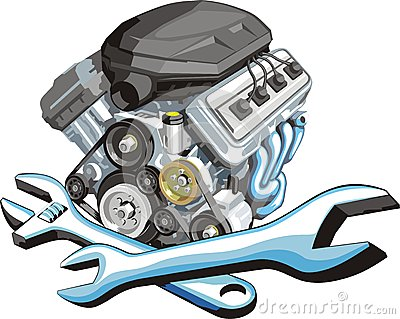Clipart for car engine block.