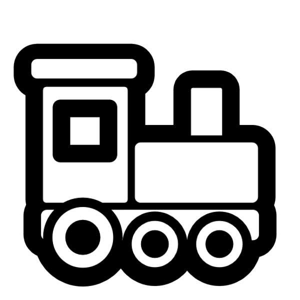 Vector and Train Engine Black And White Clipart 8133.