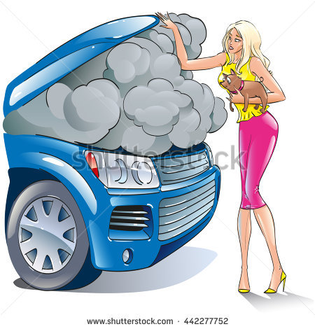 Blonde Car Motor Repairs Woman Stock Photos, Royalty.