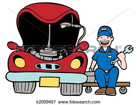 Stock Illustration of Auto Mechanic Car Hood k2009457.