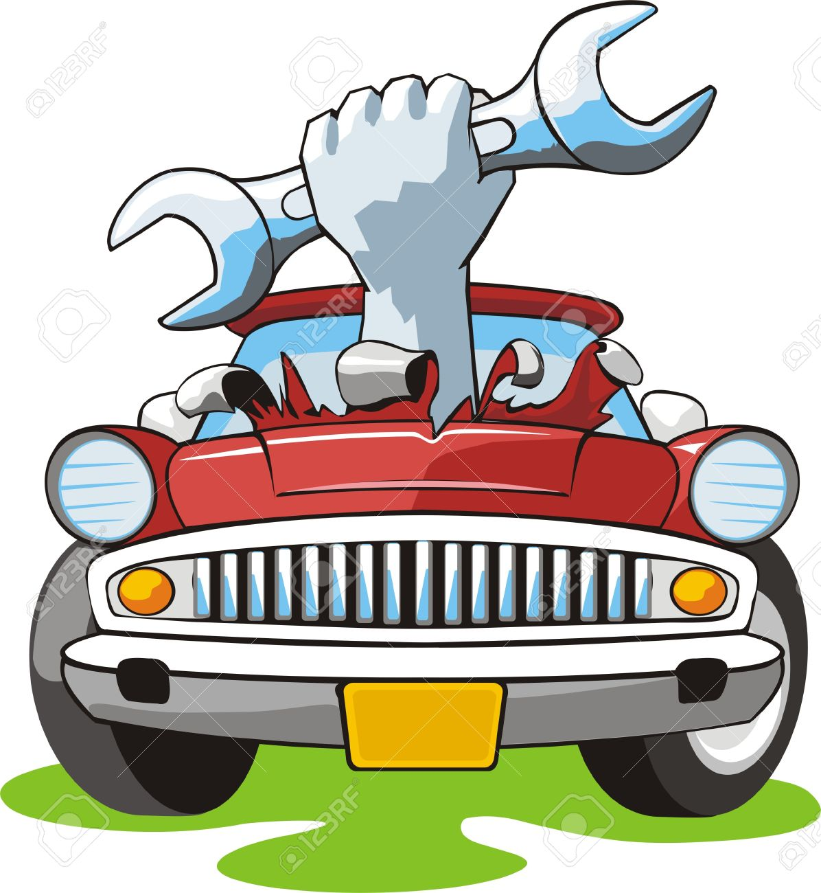 Clipart car engine.