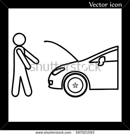 Car Hood Open Stock Vectors, Images & Vector Art.