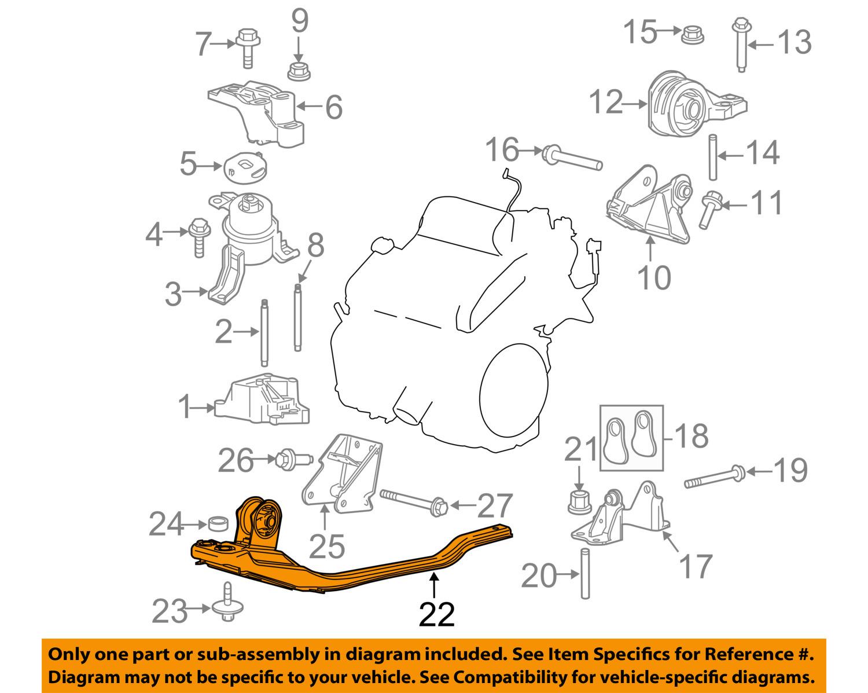 Ford Engine Motor Transmission Engine Support 6L8Z6P094CA.