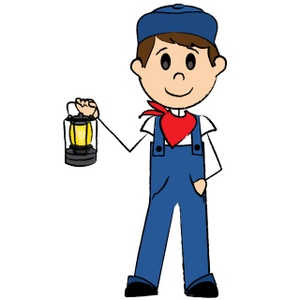 Train Engineer Clipart Image.