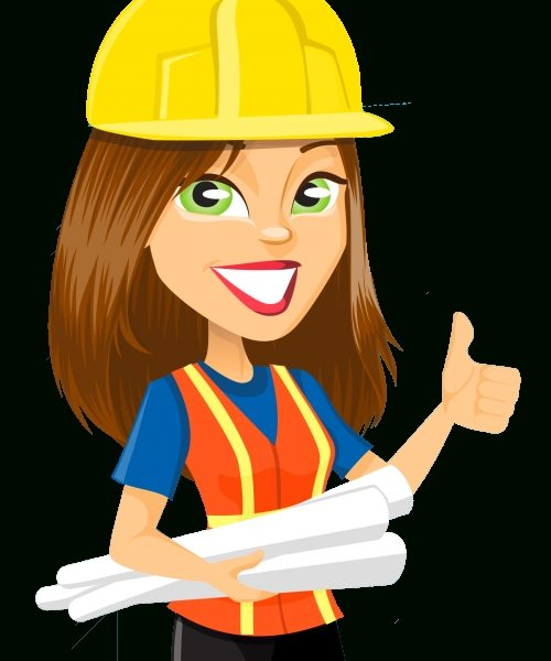 Woman Engineer Vector Png Transparent Image.