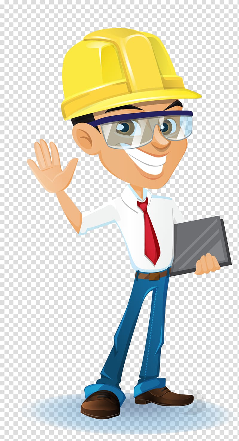 Construction worker illustration, Architectural engineering.
