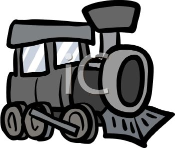 Steam Train Engine Clip Art.